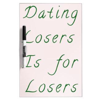 Fechar a perdedores está para los perdedores - ver tablero blanco