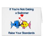 Fechar a un nadador felicitacion