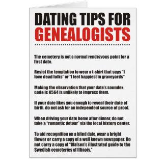 Fechar las extremidades para los Genealogists Tarjeta De Felicitación