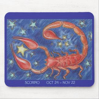 Fechas del mousepad del escorpión del zodiaco