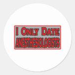 Fecho solamente a Anesthesiologists Etiqueta Redonda