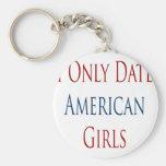 Fecho solamente a chicas americanos llavero