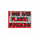 Fecho solamente a cirujanos plásticos tarjeta postal