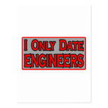Fecho solamente a ingenieros tarjeta postal