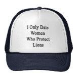 Fecho solamente a las mujeres que protegen leones gorras