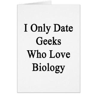 Fecho solamente a los frikis que aman biología tarjetón
