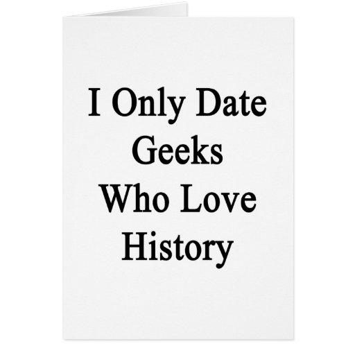 Fecho solamente a los frikis que aman historia tarjeta pequeña