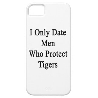 Fecho solamente a los hombres que protegen tigres iPhone 5 coberturas