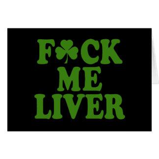 Feck yo irlandés divertido del hígado tarjeta de felicitación