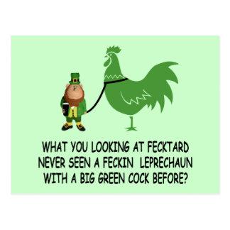 Feckin Irish fecktard Postcard