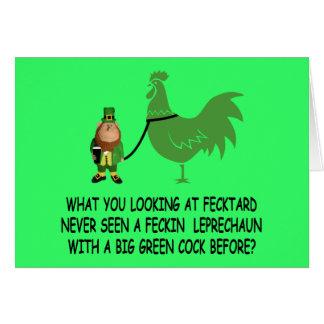 Fecktard del día de St Patrick feliz Tarjeta De Felicitación