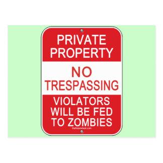 FED a los zombis Tarjetas Postales