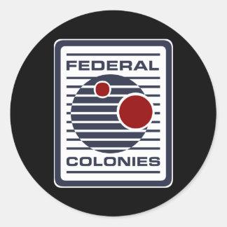 fed classic round sticker