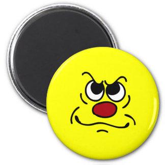 FED encima de la cara sonriente Grumpey Imán Redondo 5 Cm