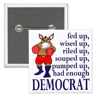 FED encima del botón político del cuadrado Democra Pin
