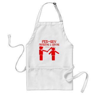 Fed-Gov Protecting & Serving Adult Apron
