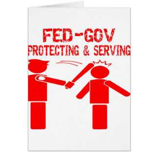 Fed-Gov Protecting & Serving Card