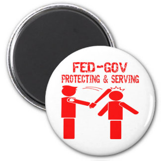 Fed-Gov Protecting & Serving 2 Inch Round Magnet