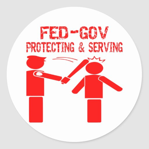 Fed-Gov Protecting & Serving Sticker