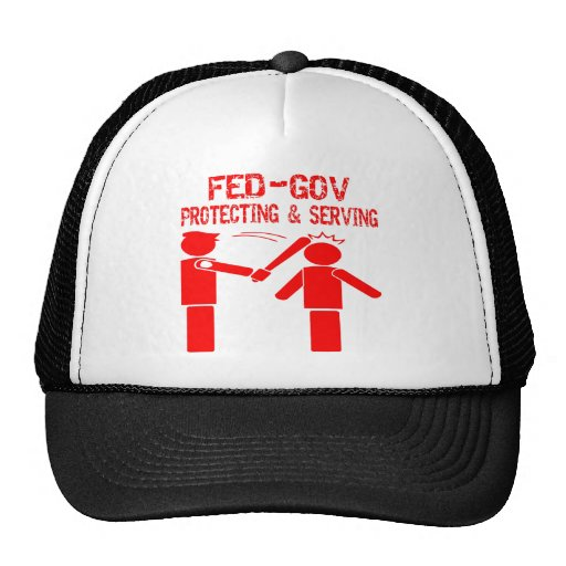 Fed-Gov Protecting & Serving Trucker Hat