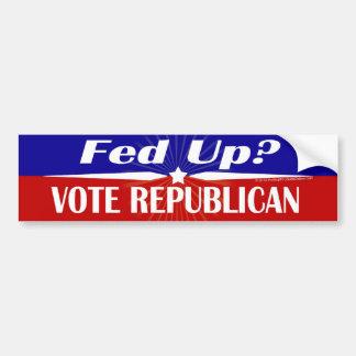 ¿FED para arriba? Republicano del voto Etiqueta De Parachoque