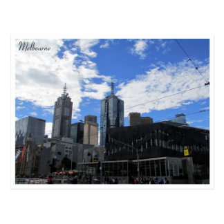 fed square skyline postcard