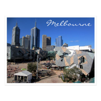 fed square skyline postcard