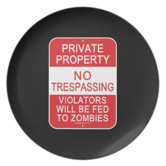 Fed To Zombies Dinner Plate