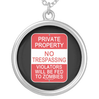 Fed To Zombies Round Pendant Necklace