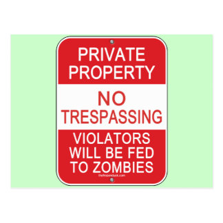 Fed To Zombies Postcard
