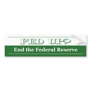 Fed Up! Bumper Sticker