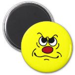 Fed Up Smiley Face Grumpey 2 Inch Round Magnet