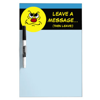 Fed Up Smiley Face Grumpey Dry-Erase Whiteboards