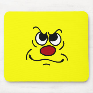 Funny Smiley Face Mouse Pads | Zazzle
