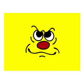 Fed Up Smiley Face Grumpey Postcard