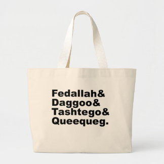 Fedallah Daggoo Tashtego Queequeg | Moby Dick Pals Canvas Bags