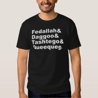 Fedallah Daggoo Tashtego Queequeg | Moby Dick Pals T-Shirt