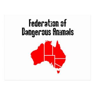 Federación de animales peligrosos postales