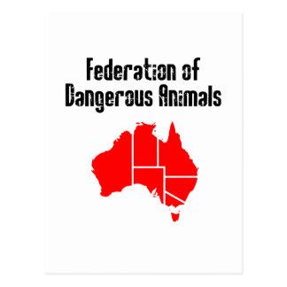Federación de animales peligrosos tarjeta postal