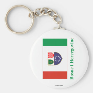 Federación de la bandera de Bosnia y de Herzegovin Llaveros