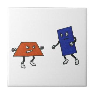 Federación de lucha del polígono azulejo cuadrado pequeño