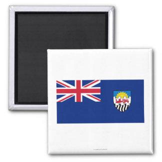 Federación de Rhodesia y de la bandera de Nyasalan Imán Cuadrado