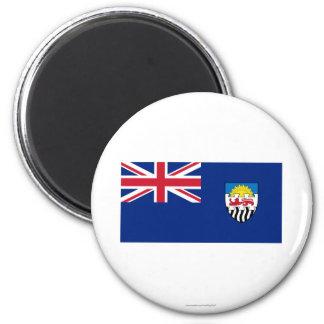 Federación de Rhodesia y de la bandera de Nyasalan Imán Redondo 5 Cm