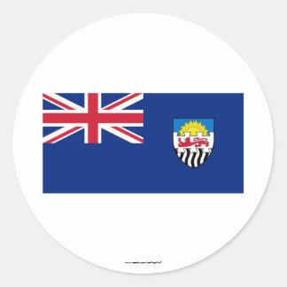 Federación de Rhodesia y de la bandera de Pegatina Redonda