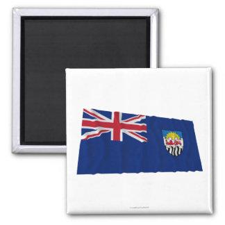 Federación de Rhodesia y de la bandera que agita d Imán Cuadrado