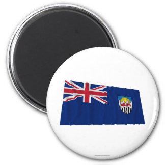 Federación de Rhodesia y de la bandera que agita d Imán Redondo 5 Cm