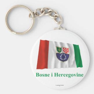 Federación del ingenio de la bandera de Bosnia que Llavero Personalizado