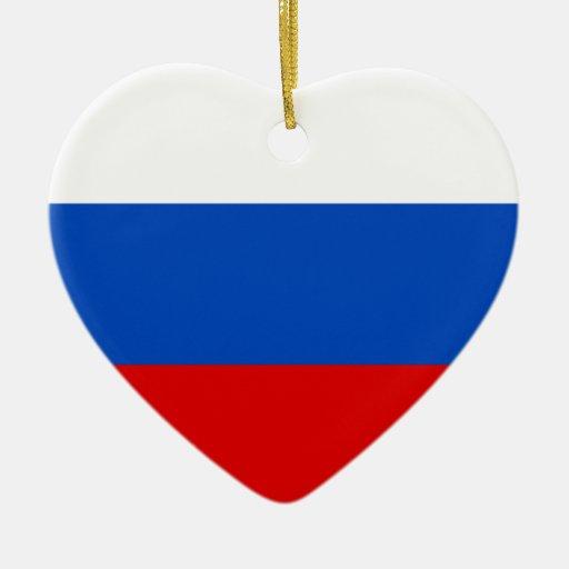 Federación Rusa, bandera de Rusia Adorno Navideño De Cerámica En Forma De Corazón