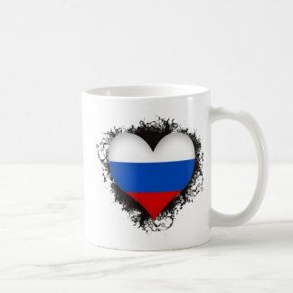 Federación Rusa del amor del vintage I Tazas De Café