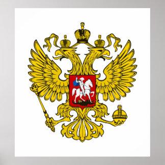 Federación Rusa Eagle Póster